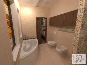 łazienka w trawertynie