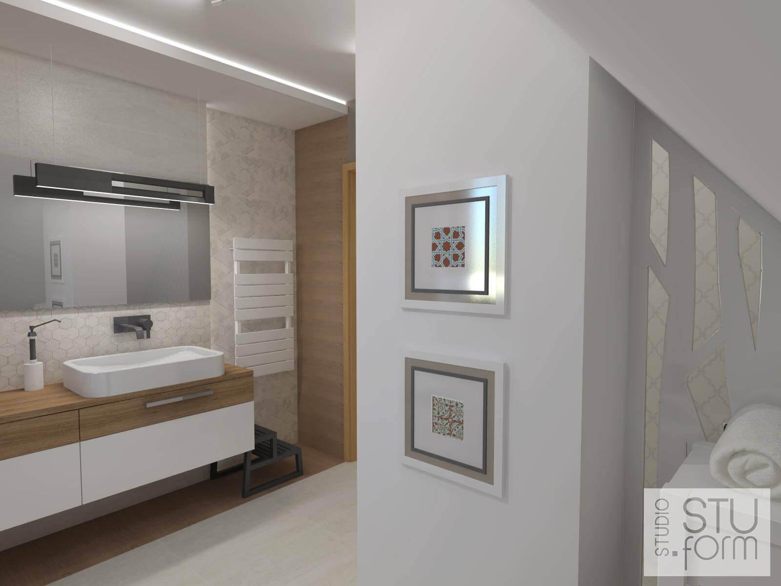 salon kąpielowy popielaty