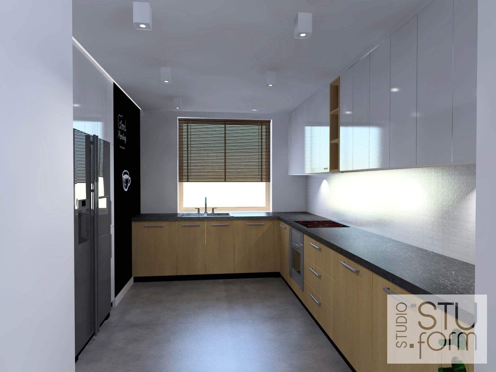 biało-drewniana kuchnia