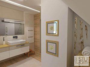 salon kąpielowy beżowy