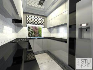 wąska kuchnia