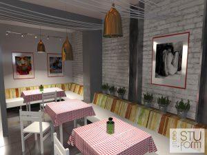 wnętrze włoskiej restauracji