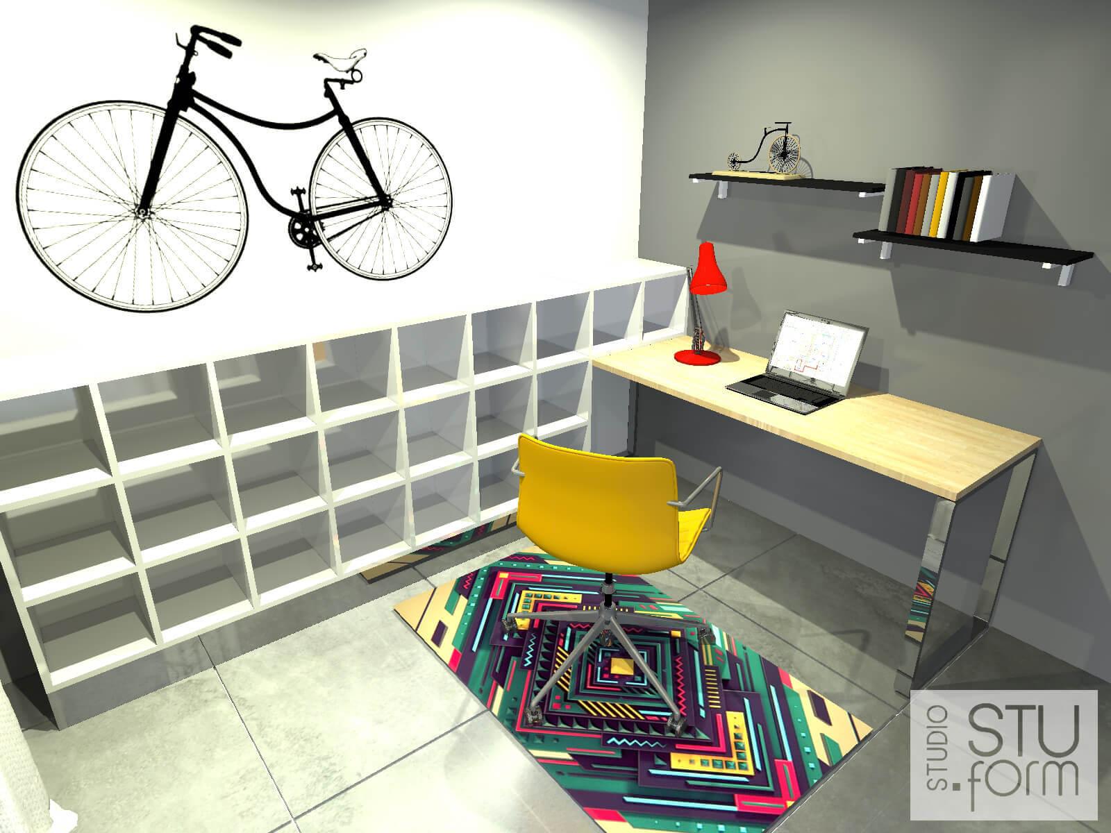pomysł na mały gabinet
