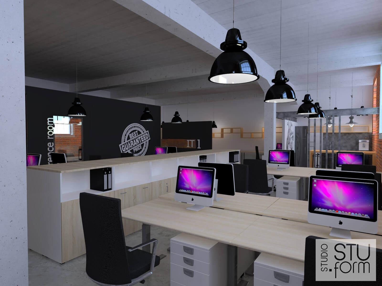 projekt sali komputerowej