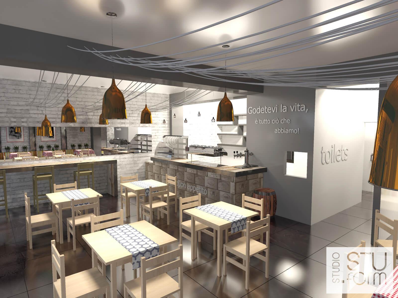restauracja w nowoczesnym stylu