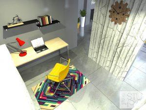 gabinet w małym domu