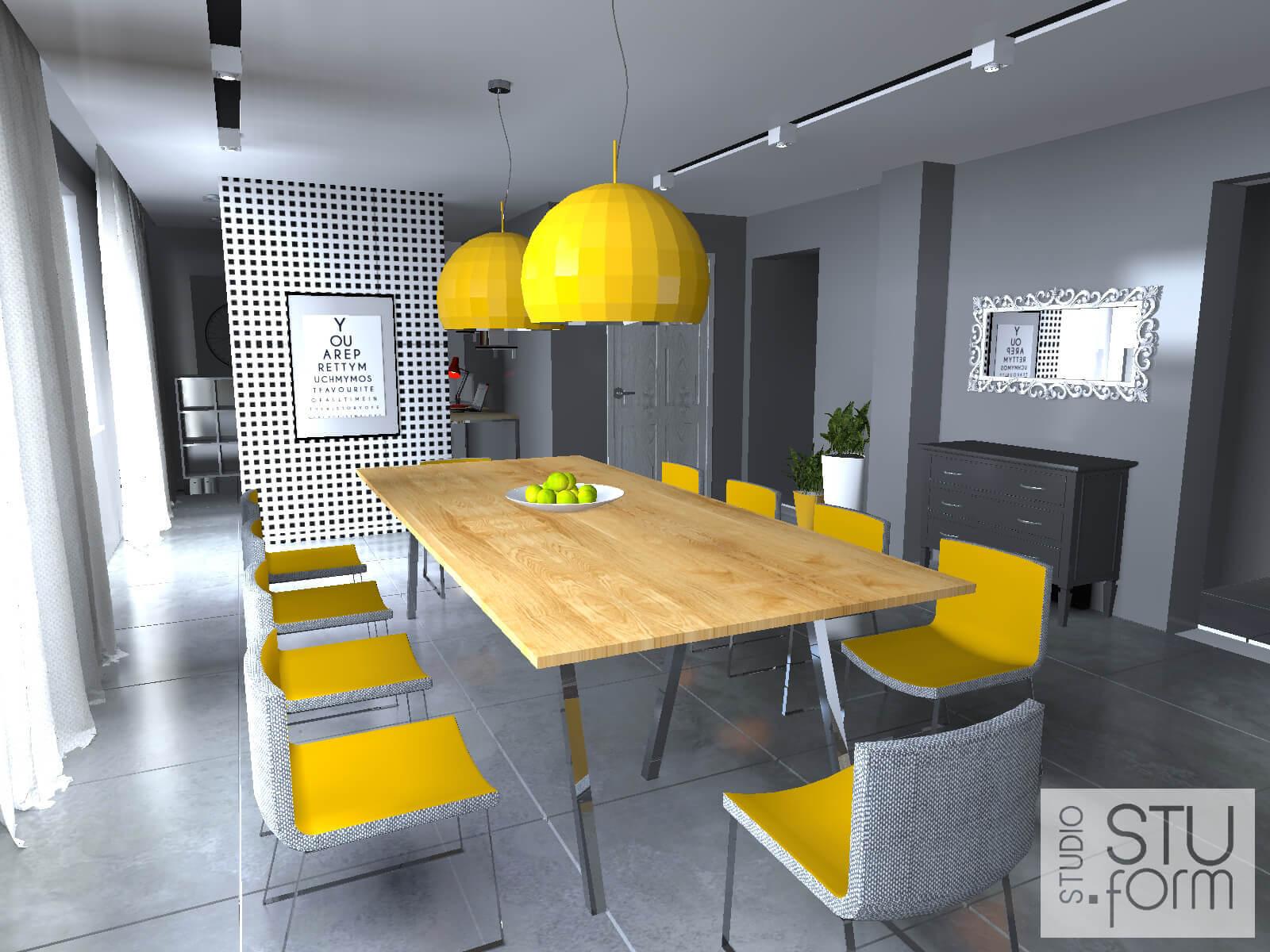 żółta jadalnia