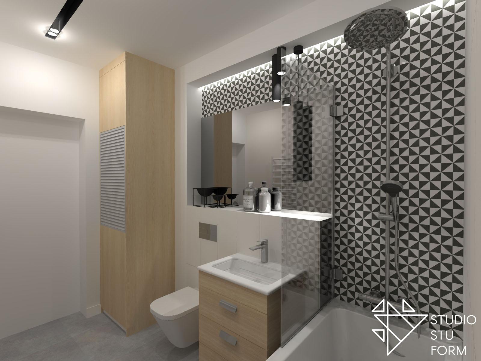 łazienka wzorzyste kafle
