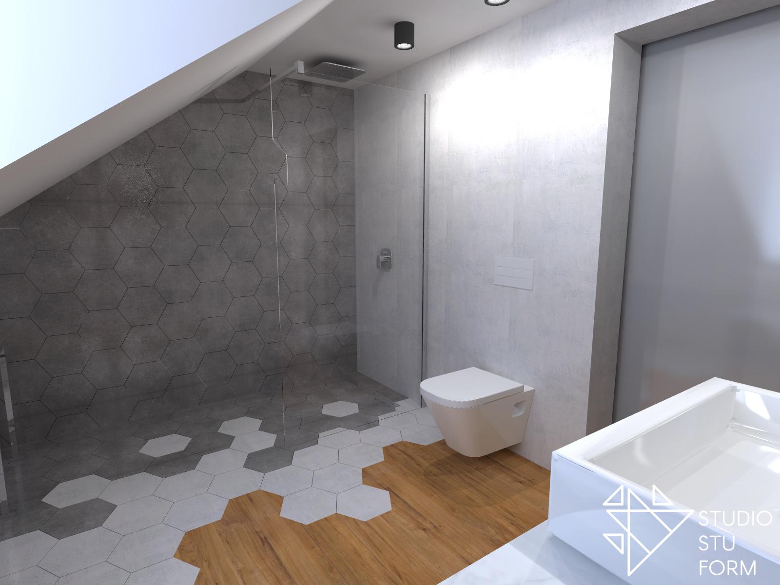 otwarty prysznic