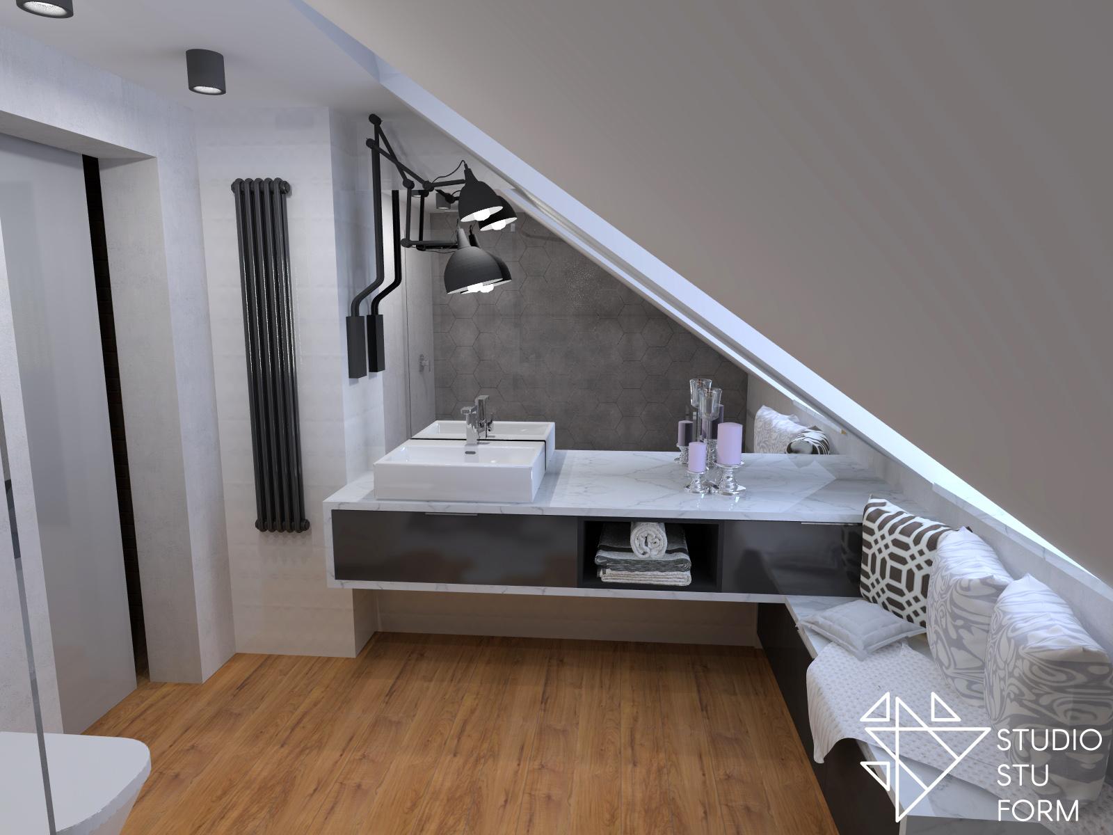 marmurowa łazienka