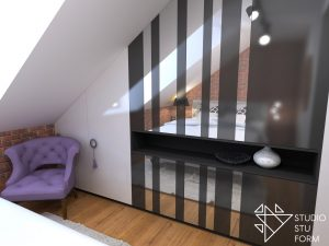 zaprojektowana zabudowa sypialni