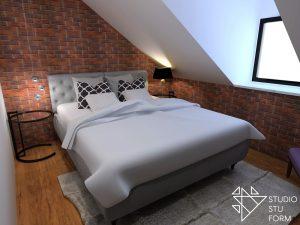 ceglana sypialnia