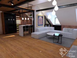 architektura loftowego mieszkania