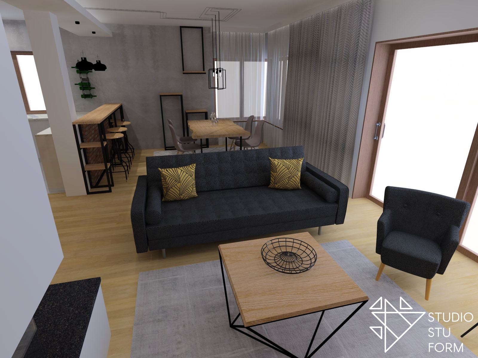 ciemna sofa