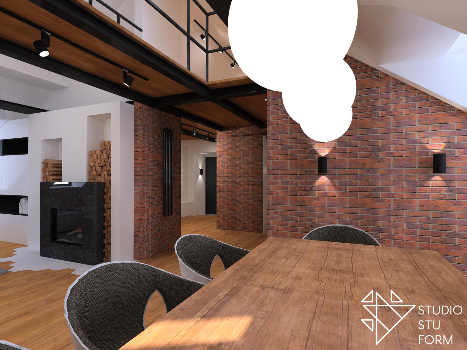 projekt loftowego mieszkania
