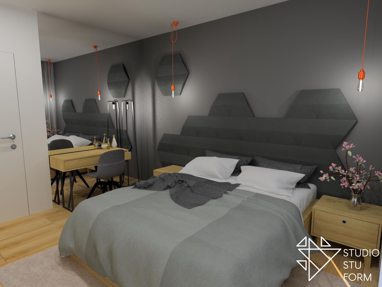 Ciemna sypialnia