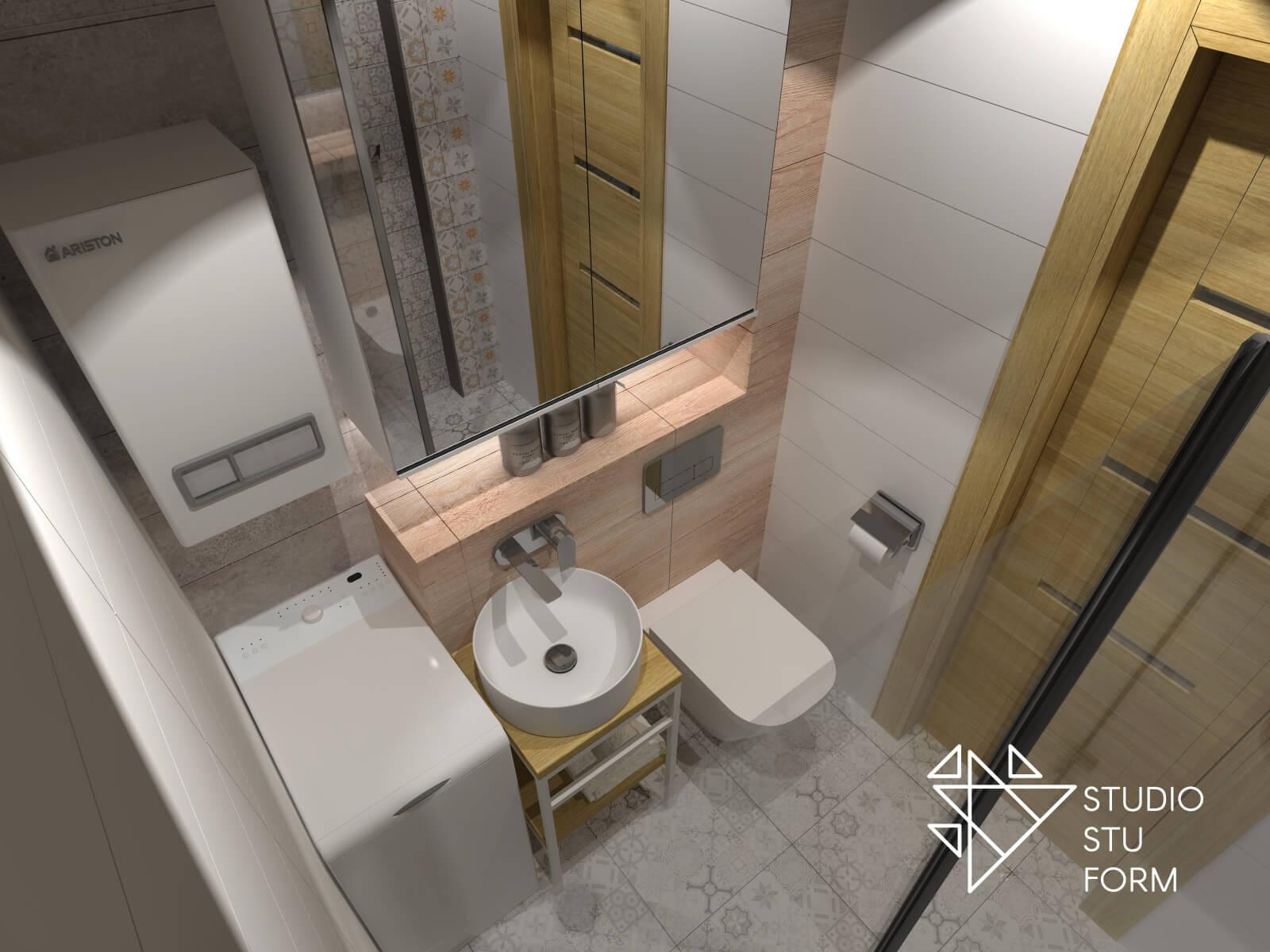 Bardzo mała łazienka