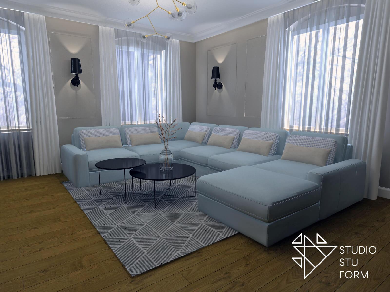 Duża sofa wypoczynkowa