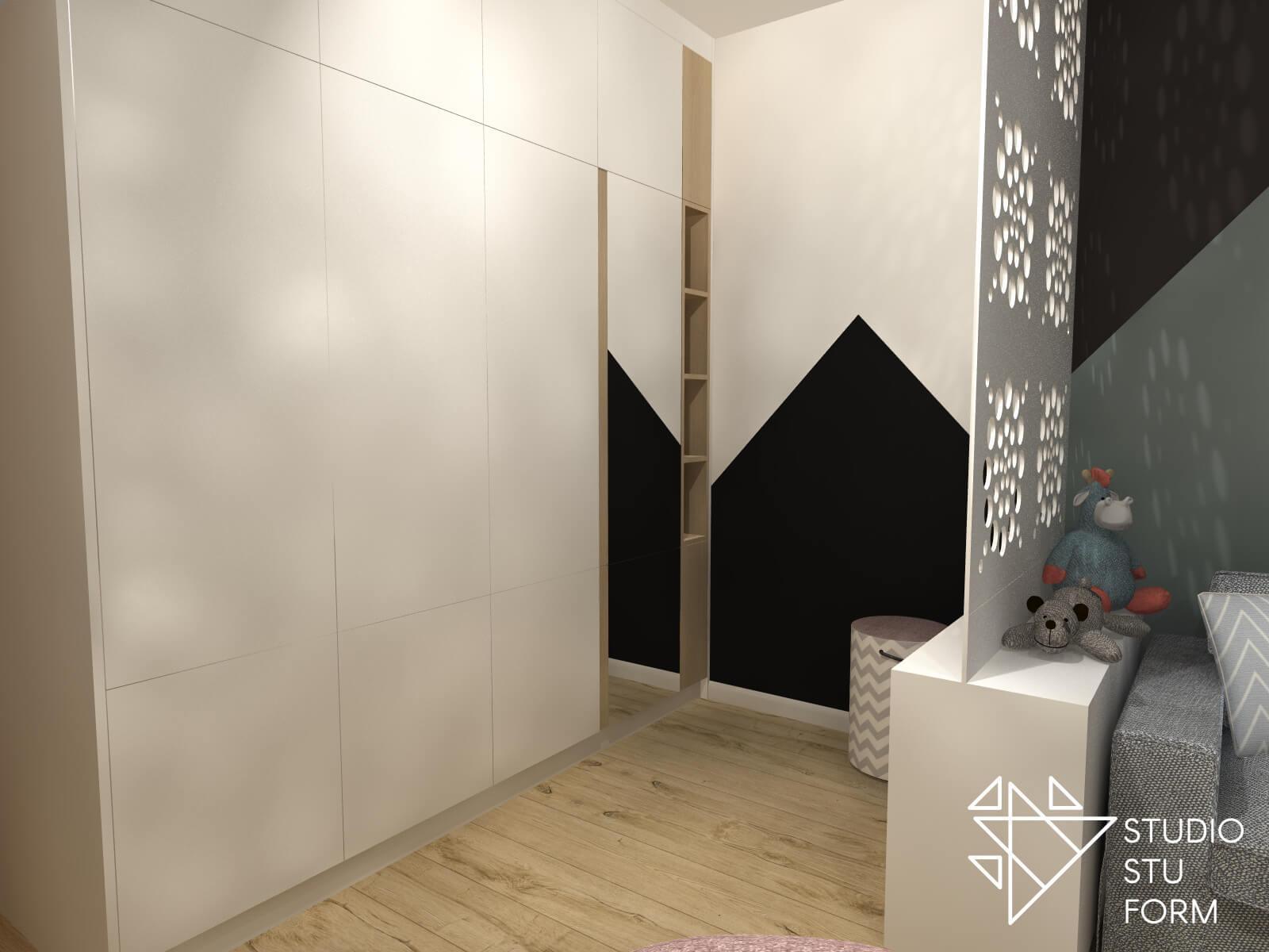 Garderoba w pokoju młodzieżowym