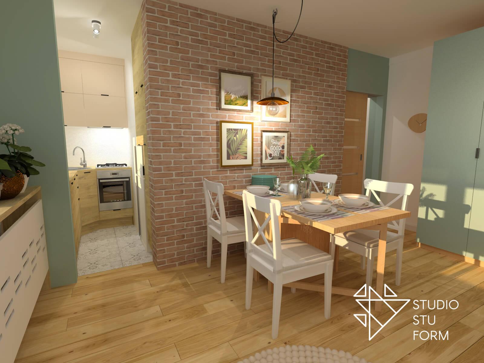 Jadalnia w małym mieszkaniu