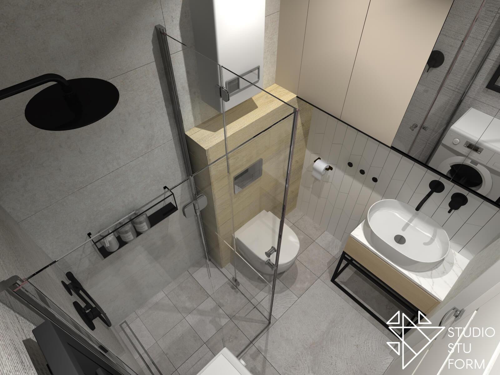 Łazienka w małym mieszkaniu