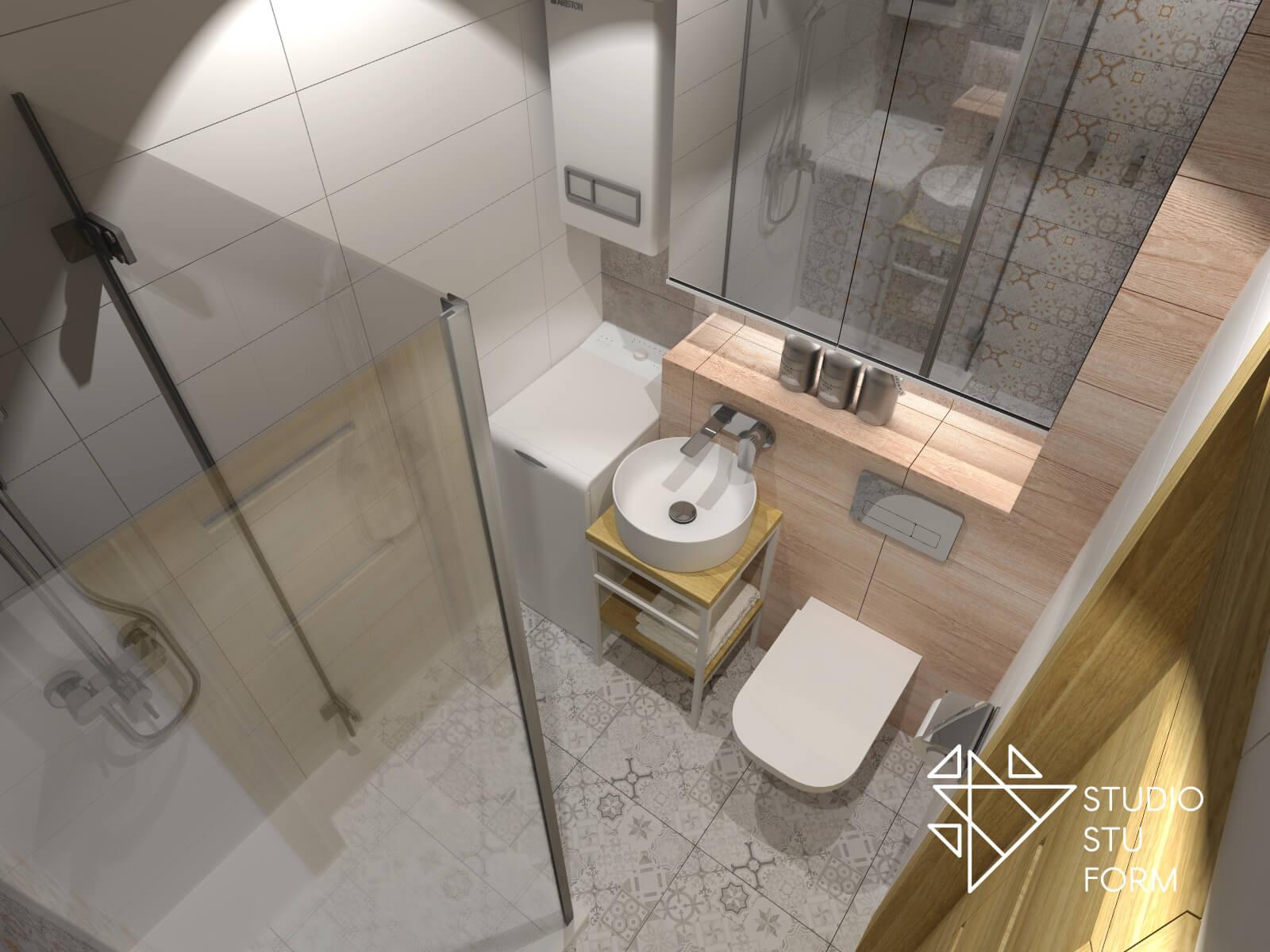 Mała łazienka w mieszkaniu