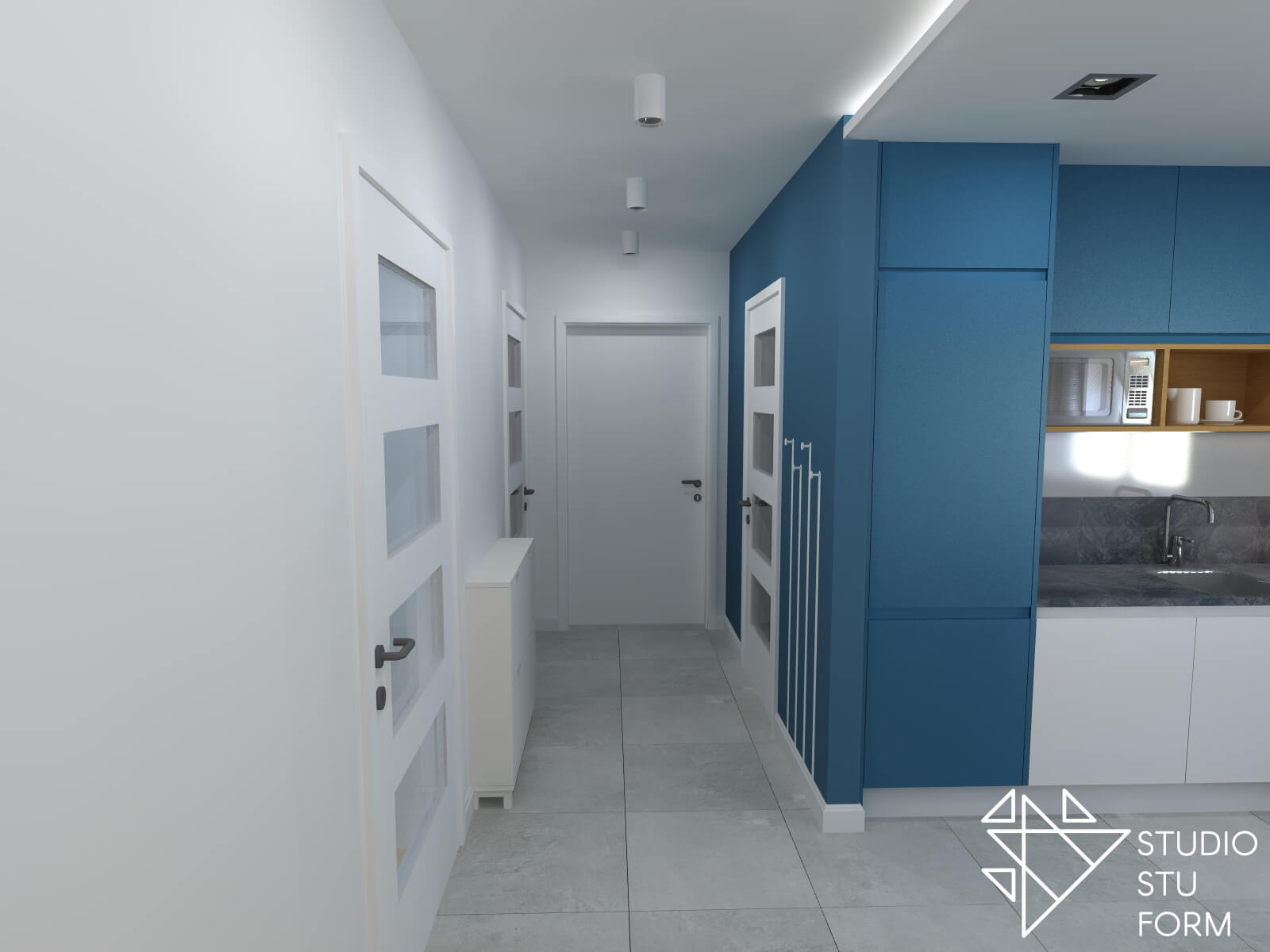 Wejście do małego mieszkania