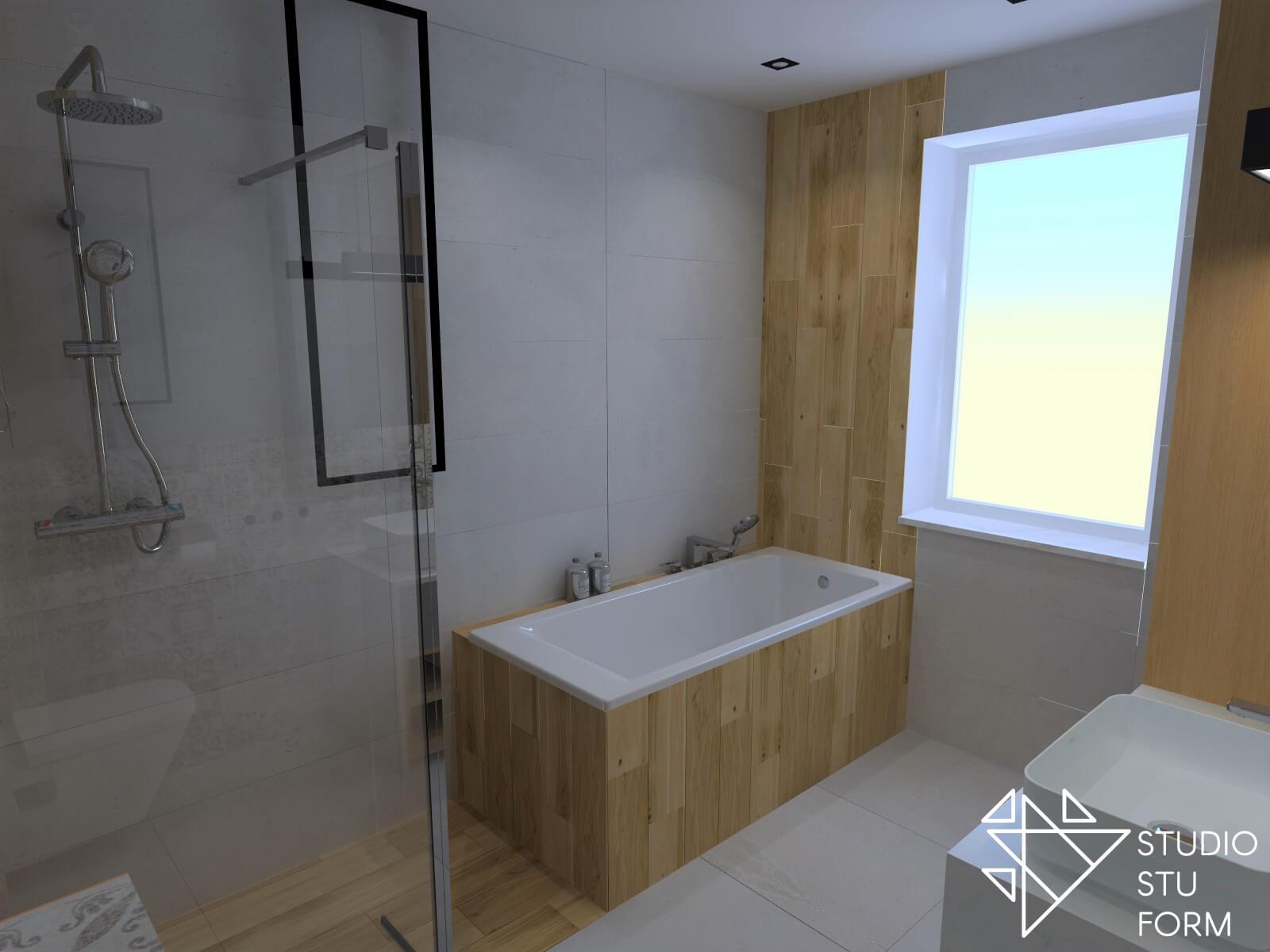 Kafle drewnopodobne w łazience