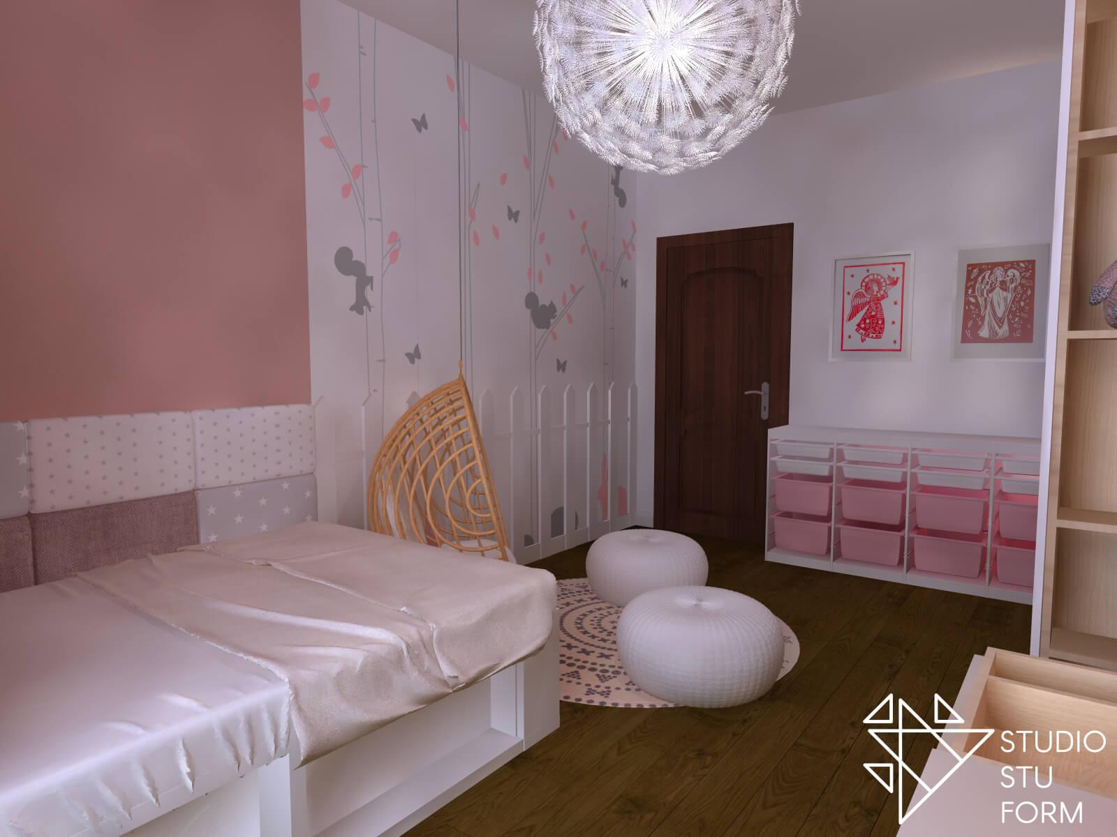 Projekt różowego pokoju