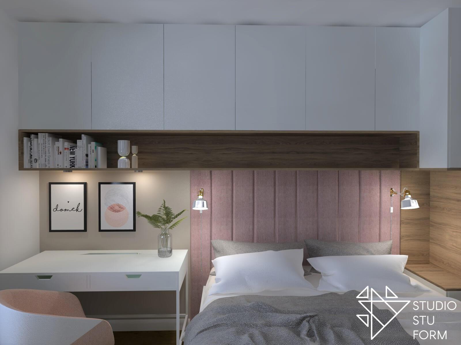 Sypialnia połączona z biurem