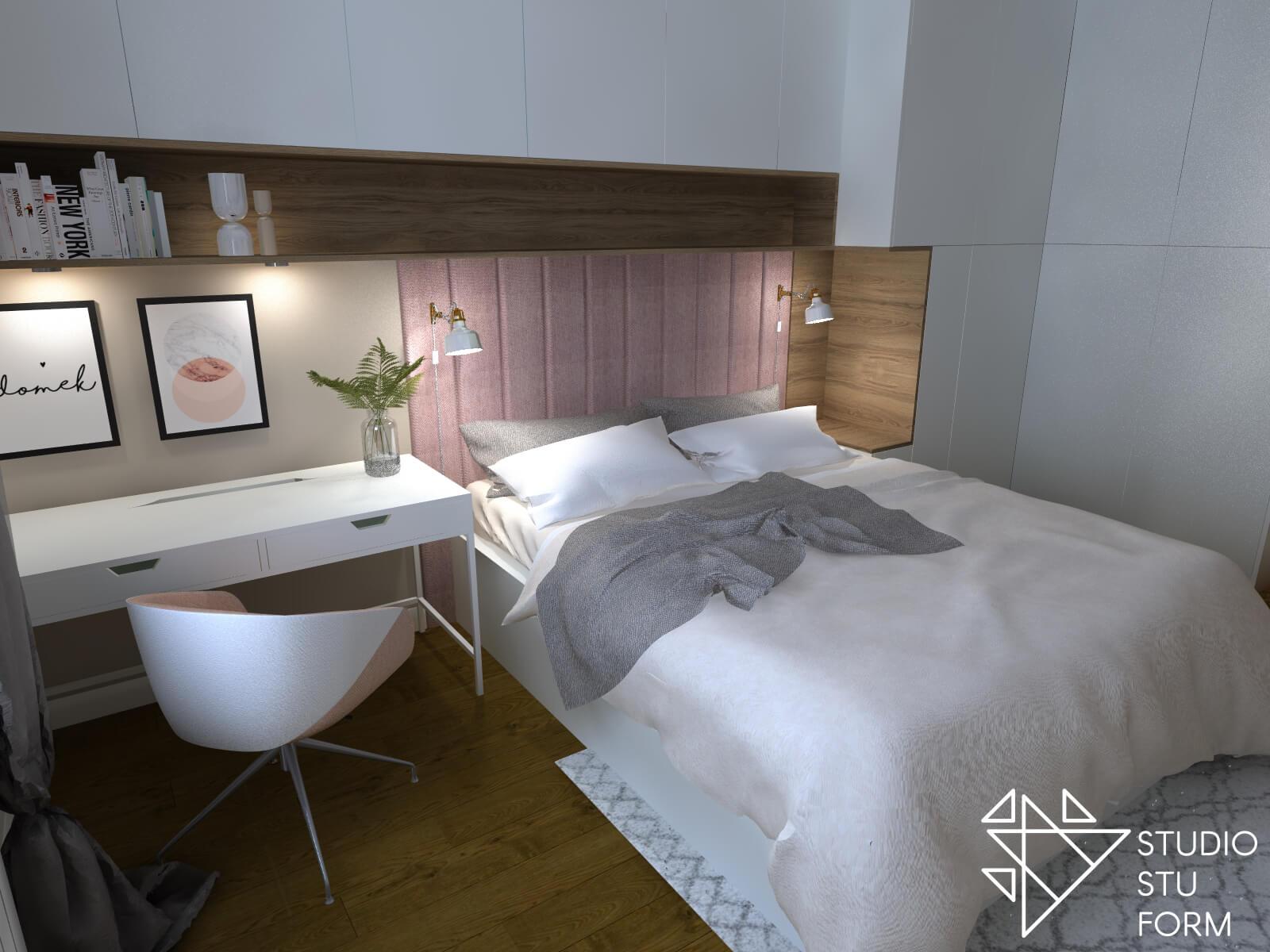 Biurko obok łóżka
