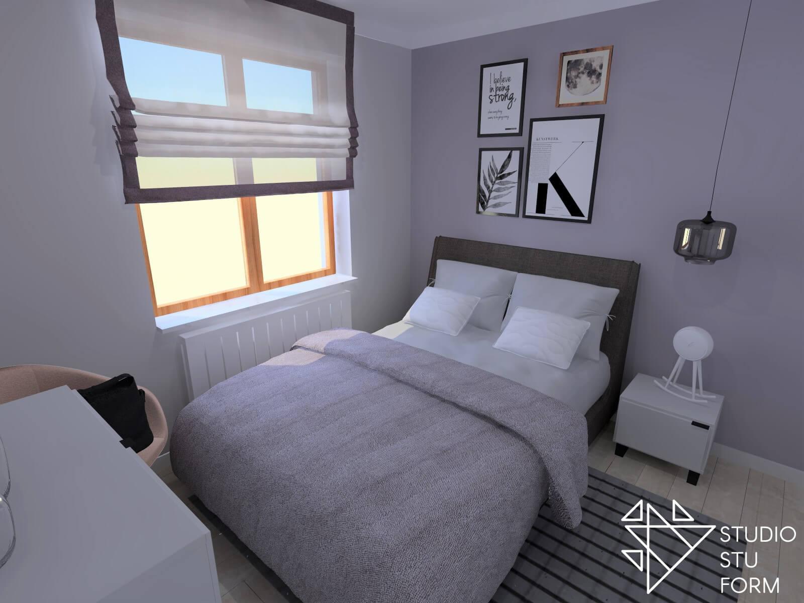 Projekt sypialni Śląsk