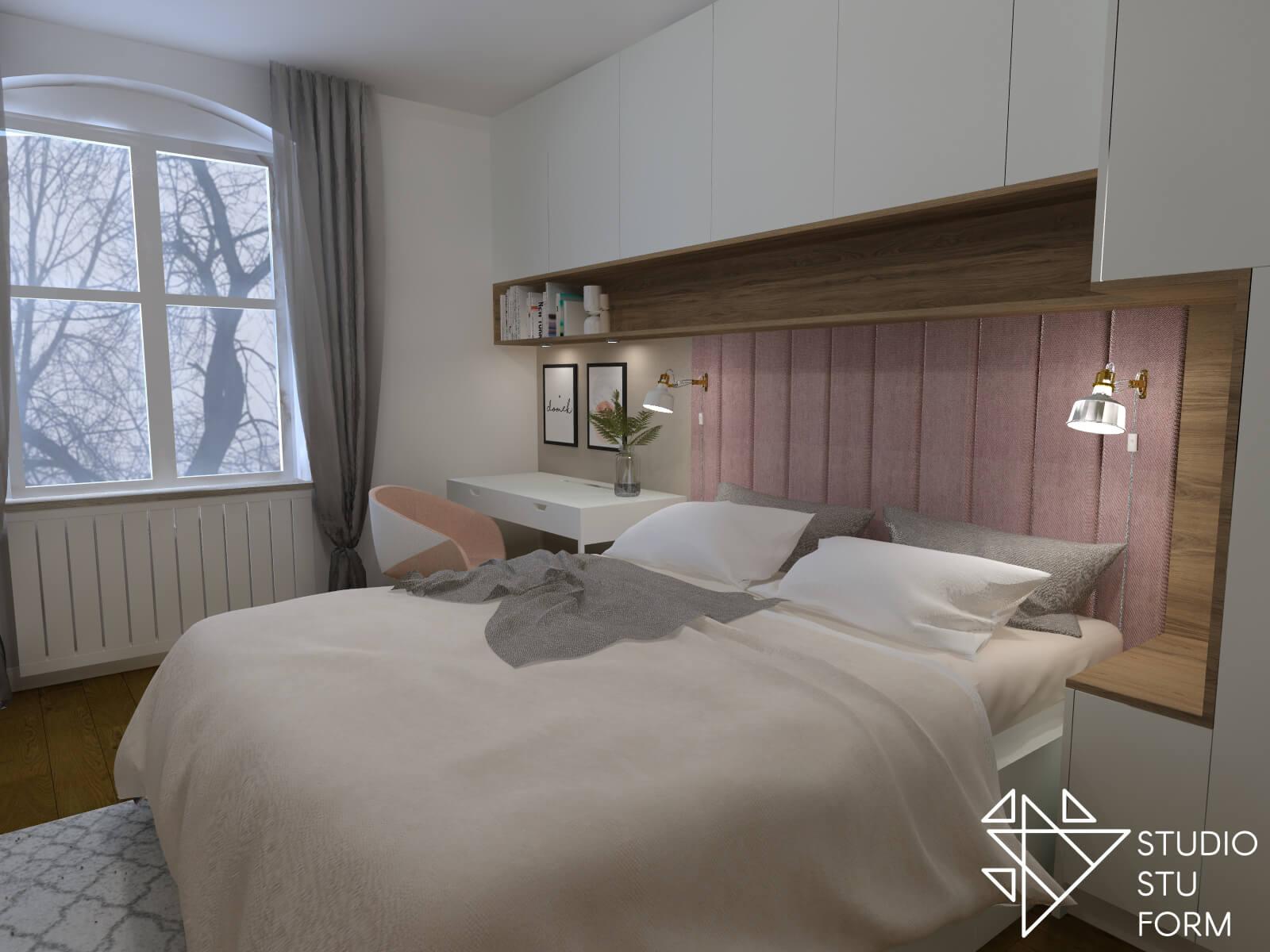 Sypialnia z obiciem