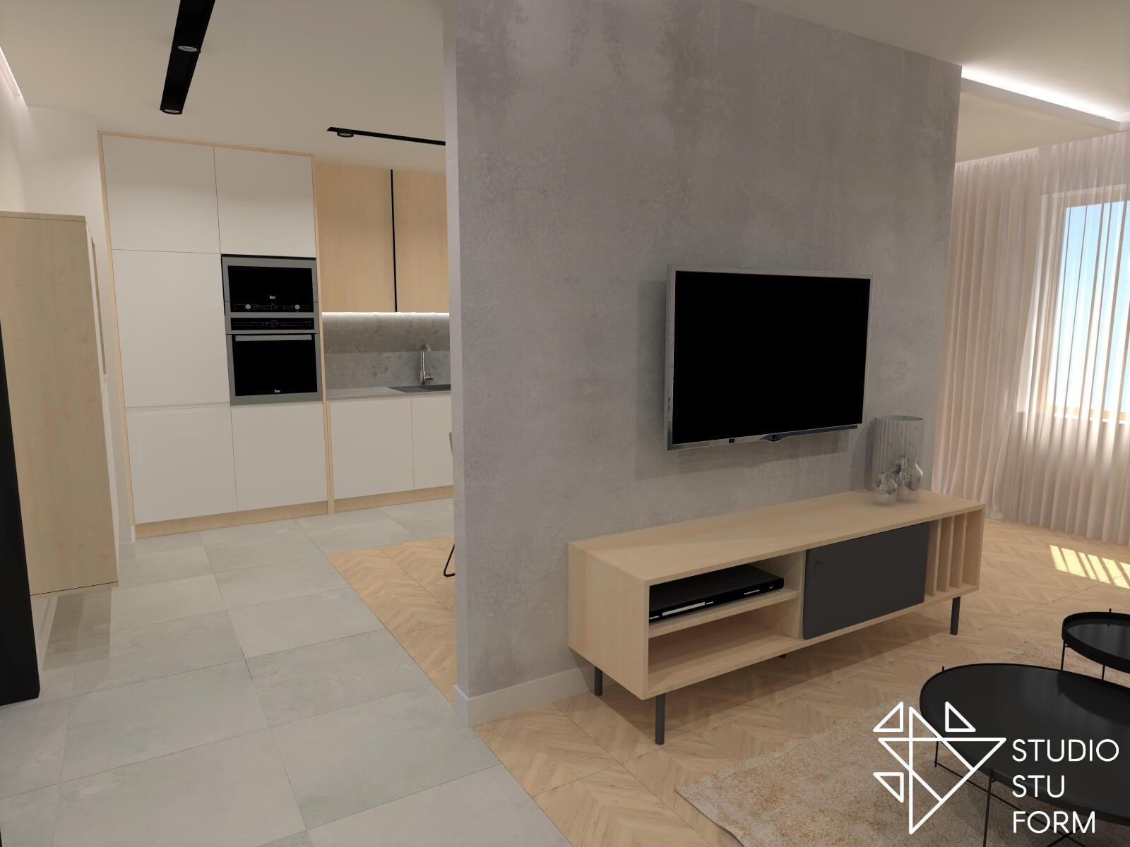 Projektowanie salonu z kuchnią